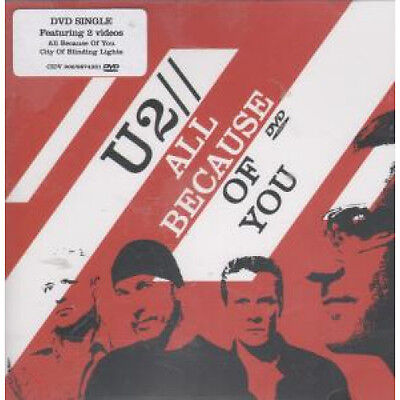 U2 All Because Of You DVD European Island 2005 Includes Videos For All Because