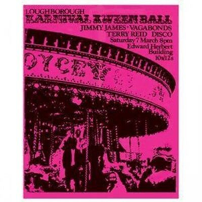 JIMMY JAMES AND THE VAGABONDS/TERRY REID Loughborough Karnival POSTER UK Promo