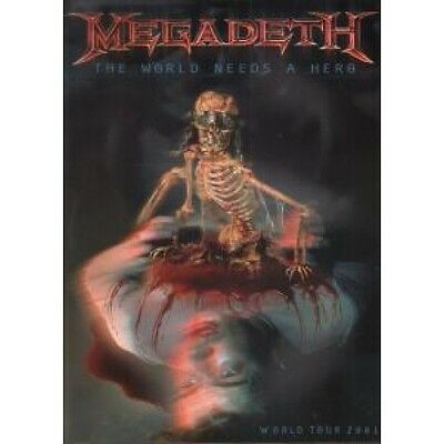 "MEGADETH World Needs A Hero TOUR PROGRAMME 2001 13""X10"" Full Colour 2001 World"