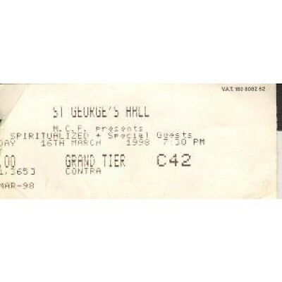 SPIRITUALIZED St George's Hall Bradford 16th March 1998 TICKET UK 1998 Used Gig