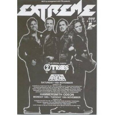 EXTREME Concert FLYER UK A5 Size Black And White Promo Flyer For Concerts In
