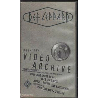 DEF LEPPARD Video Archive VIDEO UK Bludgeon Riffola 1995 19 Track Vhs Pal