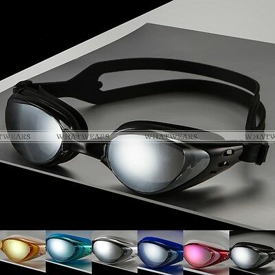 Adult Anti-fog Waterproof UV Protection Swimming Goggle Glasses Professional