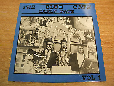 """the blue cats  the early days  volume 1  12"""" vinyl lp  excellent psychobilly"""