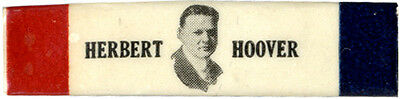 Unusual 1928 Campaign Herbert Hoover Celluloid Bar Pin