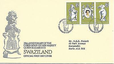 Swaziland - 25th Anniversary of Coronation - First Day Cover 02.06.78
