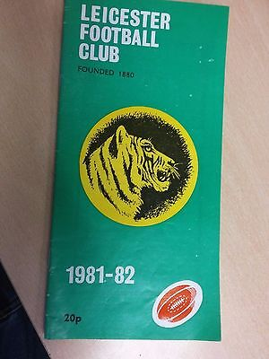 Leicester Football Club (Tigers) 1981 [Leicester vs. Gloucester] programme