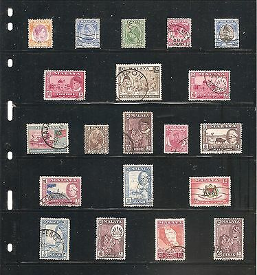 A Nice Collection  Of 20   Malaya   Fine Used   Stamps