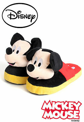 Walt Disney Mickey Mouse Stompeez Slippers Size Large 3-5 Brand New