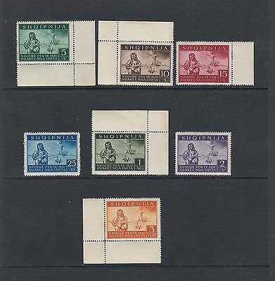 Dt. Besetzung II. WK  Albanien - Mi-Nr. 15-21 ** postfrisch -  Mi. 100,-