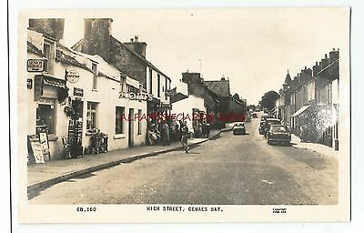 Wales Anglesey Cemaes Bay High Street Real Photo Vintage Postcard 17.12