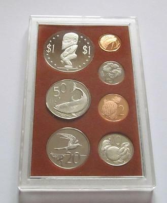 Cook Islands 7 coin sealed Proof coin set dated 1973 $1 - 1 Cent