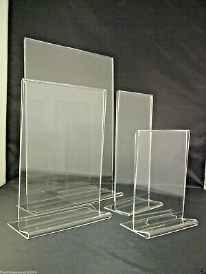 Sign Print Menu Graphic Holders Acrylic Perspex Plastic Stands A3 A4 A5 A6 DL