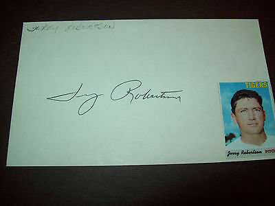 Jerry Robertson (1943-1996) signed 3x5