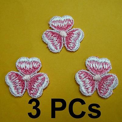 3 Flower Floral Lace Applique Sew On Patch Collar Decoration Embroidery Motif