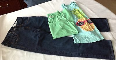 H&M Girls Jeans / 2 Vest Style Tops - Age 11/12 Years (152/158)