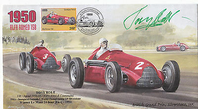 Tony Rolt 1950 Autographed Limited Edition Alfa Romeo 158 First Day Cover  F1