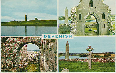 DEVENISH (LOUGH ERNE ISLAND) 1970s POSTCARD UN-POSTED PUBLISHED BY SMITH & CO.