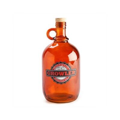 2L Two Litre Beer Drinking Growler Drink Vessel Brown Bottle Glass Home Brewers
