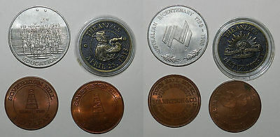 Australia : Lot Of 4 Larger Tokens / Medals