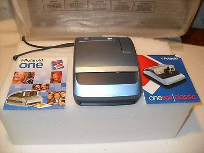 Vintage Polaroid One 600 Instant Camera Blue