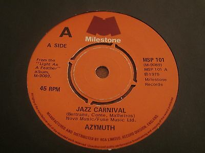 """Azymuth - Jazz Carnival - 1979 Cult Jazz Funk 7"""" In Excellent Condition"""