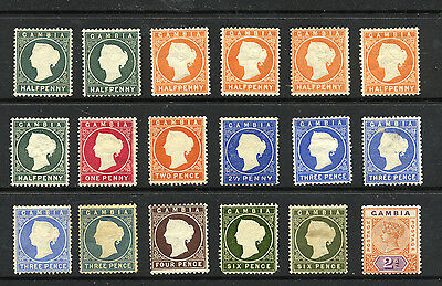 GAMBIA , 18 x stamps MOUNTED MINT ,