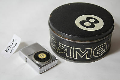 Camel 8 ball Zippo lighter ashtray tin collectible old vintage EP21348