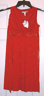 New Speechless Red Sparkle Sequin Dress Girls Size 8 Nwt Party Valentine's Day