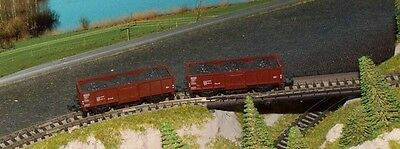2 x DB open goods wagons with full load    by MINITRIX      N Gauge   (3)