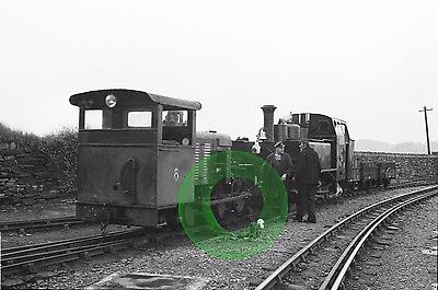 MONO NEG NARROW GAUGE RAILWAY MOUNTAINEER AT BOSTON LODGE FFESTINIOG WALES 1960s