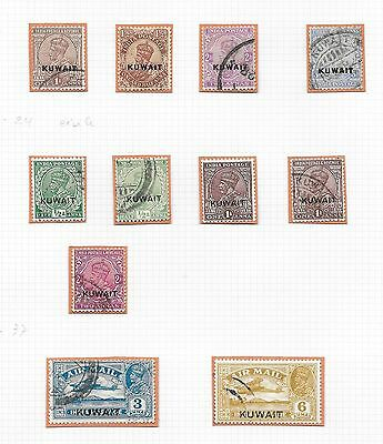 Kuwait stamps 1923 Collection of 11 stamps  HIGH VALUE!