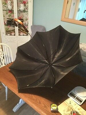 Vintage Steampunk Gauntlet Umbrella-Black(faded Black)-wooden handle Nylon