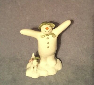 John Beswick The Snowman And Snowdog Pottery Figure Coming Alive Birthday BOXED