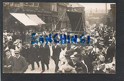 Leek Parade In The Town Centre, Superb Animated Rp C1912