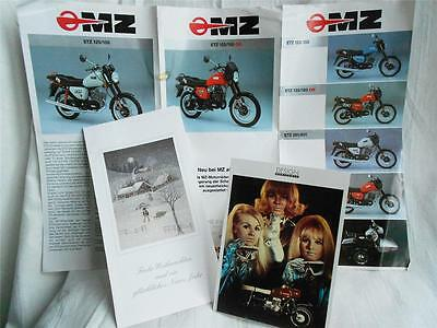 VINTAGE MZ MOTORCYCLE MEMORABILIA in GERMAN, ETZ125