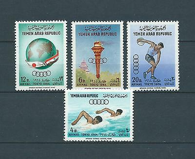 YEMEN - 1964 YT 27 à 30 - POSTE AERIENNE - TIMBRES NEUFS** MNH LUXE