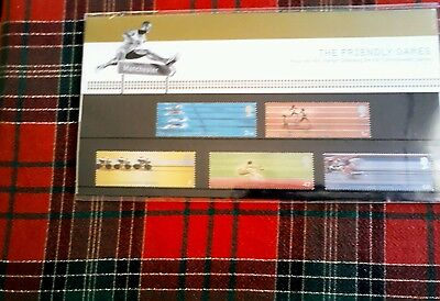Royal Mail mint stamps celebrating 2002 Commonwealth Games in Manchester.