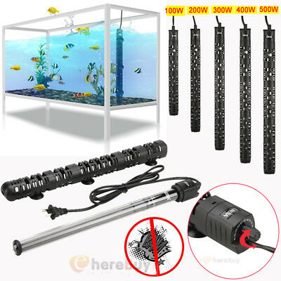 100W-500W Aquarium Heater Anti-Explosion Submersible Fish Tank Water Adjustable