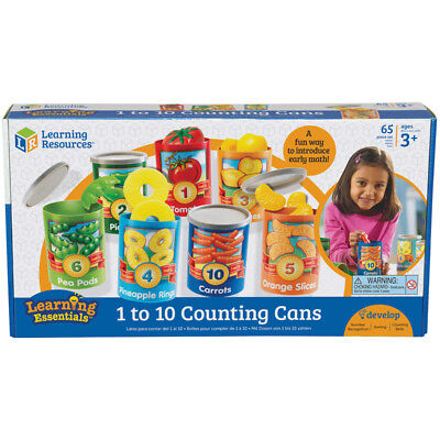 Learning Resources 1 to 10 Counting Cans NEW