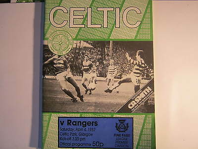 Celtic v Rangers  Premier League Match Programme 1987 (E)