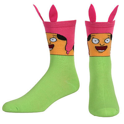 Bob's Burgers Louise Belcher Face w/ Ears Official Licensed Adult Unisex Socks