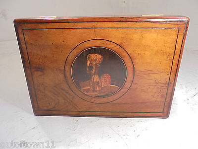 Antique inlaid Sorrento Ware Box     ,    ref 2/ax780