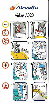 1 x AIRCALIN air caledonie international A320 SAFETY CARD