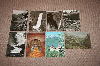 A collection of Norway postcards from the 1900s.
