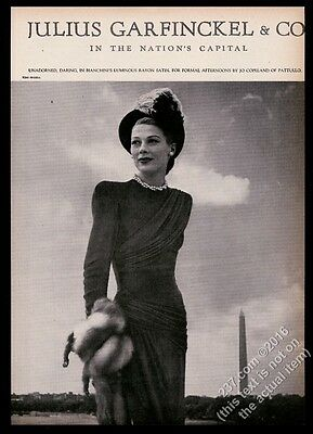 1946 Toni Frissell photo Julius Garfinckel Pattullo dress vintage print ad