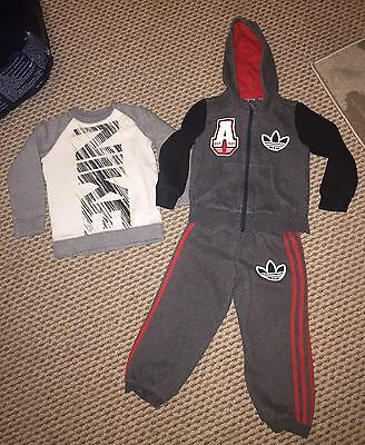 Boys Adidas Tracksuit And Nike Jumper Age 2-3years