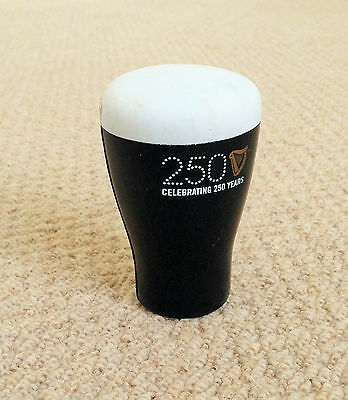 """A 4"""" Tall Guinness Rubber Poured Pint Figurine Commemorating 250 Years In 2009"""