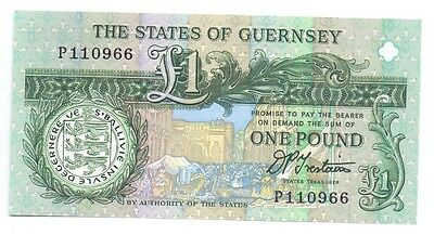 The States of Guernsey £1, No P110966 Unc