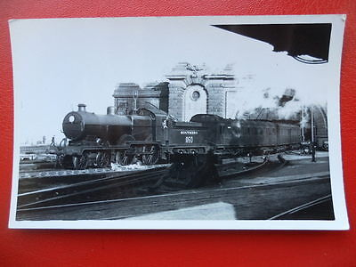 Photo  Sr Ex Secr Class E1 Loco No 1160 At Dover Marine